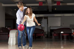 Weekend at bowling Royalty Free Stock Photos
