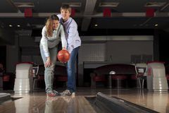 Weekend at bowling Stock Photography