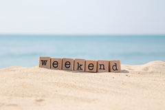 Weekend breaks and beach holidays Royalty Free Stock Images