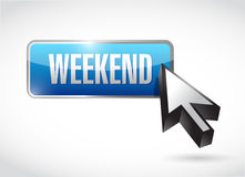 Weekend button illustration design Stock Images