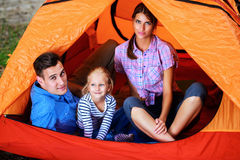 Weekend in camping Royalty Free Stock Photos