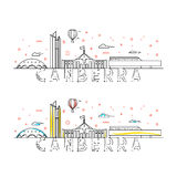 Weekend in Canberra. Capital city of Australia.  landing page Stock Image