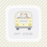 Weekend card2 Stock Photo