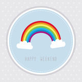 Weekend card1 Stock Photography