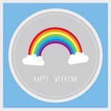 Weekend card3 Royalty Free Stock Photos