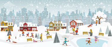 Weekend in the City (Winter) Royalty Free Stock Images