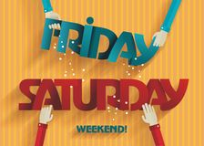 Weekend Coming - Flat Design Stock Photos