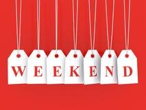 Weekend disounts Stock Image