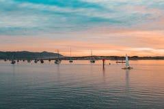 Weekend door de Kust van Californië - Morro-Baaistrand stock foto