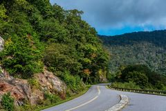A Weekend Drive on the Parkway stock photography