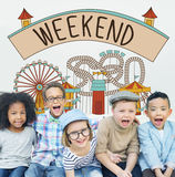 Weekend Enjoy Greeting Sunday Saturday Relax Concept Stock Photo