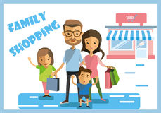 Weekend family shopping Stock Images