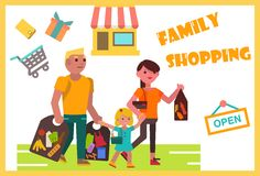 Weekend family shopping Stock Image