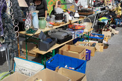 Weekend flea market in Karlsruhe Stock Photos