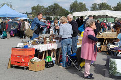 Weekend flea market in Karlsruhe, Germany Stock Photography