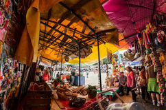 Weekend folkloric market in Tepoztlan, Mexico Royalty Free Stock Photo