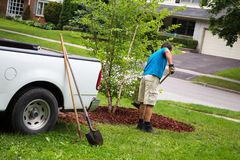 Weekend garden work Royalty Free Stock Photography