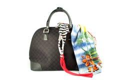 Weekend getaway bag Stock Photos