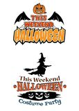 This Weekend Halloween Party theme designs Royalty Free Stock Images