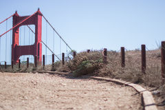 Weekend hiking to the Golden Gate Bridge, San Francisco Royalty Free Stock Photos