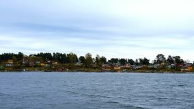 Norwegian weekend houses royalty free stock photography
