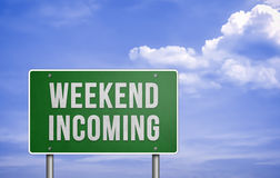 Weekend incoming Royalty Free Stock Photos