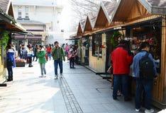 Weekend italian town   Tianjin. Weekend italian town Tianjin China photoed on march 15th 2014 Stock Photo