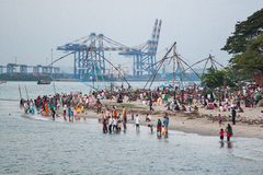 Weekend in Kochi. People having rest in India Royalty Free Stock Photos