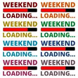 Weekend Loading icons set Stock Images