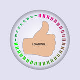 Weekend Loading. Loading Progress Bar. royalty free illustration