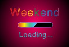 Weekend loading Stock Photo