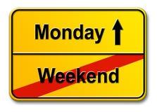 Weekend-maandag royalty-vrije illustratie