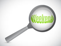 Weekend magnify glass illustration design Royalty Free Stock Photo