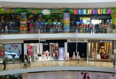 Weekend at mall. People spend a weekend at a mall in Sukoharjo, Central Java, Indonesia Royalty Free Stock Photo