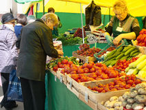 The weekend market at Izmaylovsky square in Moscow Royalty Free Stock Photos