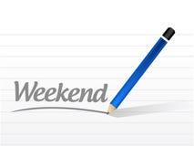 Weekend message sign illustration design Stock Photos