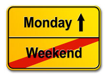 Weekend-Monday Royalty Free Stock Photo