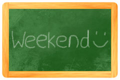 Weekend na blackboard Fotografia Royalty Free