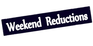 Weekend reductions. Rubber stamp with text weekend reductions inside, illustration royalty free illustration