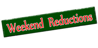 Weekend reductions. Rubber stamp with text weekend reductions inside, vector illustration vector illustration