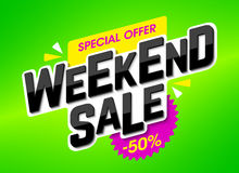 Weekend Sale stock illustration