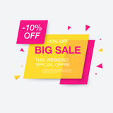 Weekend sale banner, special offer Royalty Free Stock Images