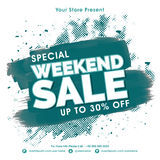 Weekend Sale Flyer or Banner. Special Weekend Sale Flyer, Sale Poster, Sale Banner, Discount upto 30% Off, Sale Background, Vector Illustration with abstract Royalty Free Stock Image