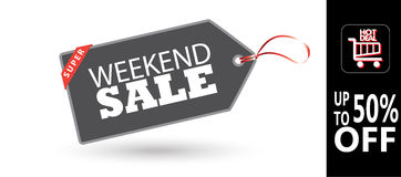 Weekend Sale poster Royalty Free Stock Images