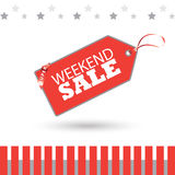 Weekend Sale poster Stock Image