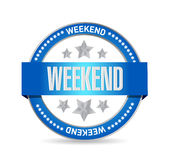 Weekend seal illustration design Royalty Free Stock Image