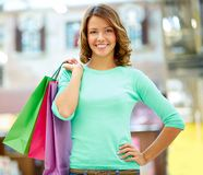 Weekend shopper Royalty Free Stock Image