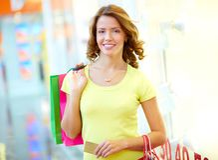 Weekend shopper Stock Photos