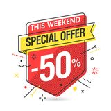 Weekend Special Offer banner Stock Images