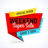 Weekend Super Sale banner Stock Photo